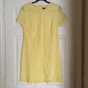 Yellow Ann Taylor Midi Dress